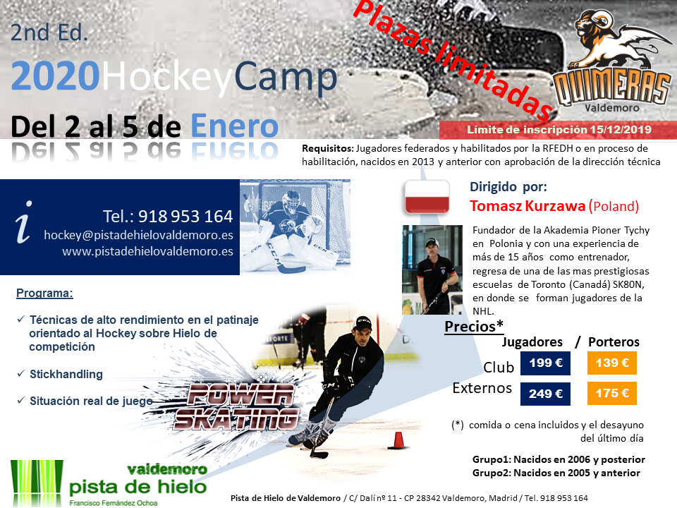 II Ice Hockey Camp – Pista de Hielo Valdemoro