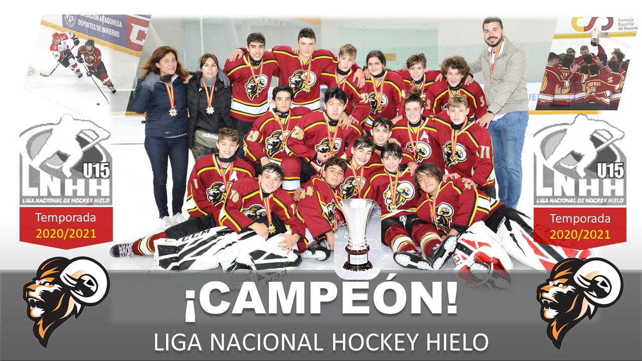 Campeones de Liga Nacional Hockey Hielo U15